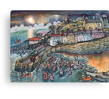 Beautiful harbour, Tenby, Wales Canvas Print