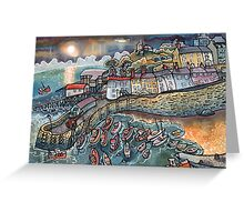 Beautiful harbour, Tenby, Wales Greeting Card