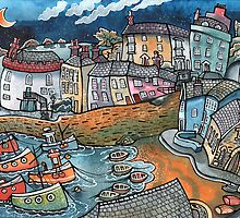Bobbing boat harbour, Tenby, Wales by Dorian Davies