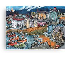 Bobbing boat harbour, Tenby, Wales Canvas Print