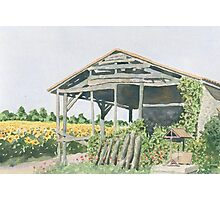 Old Barn, Les Baloteries, France Photographic Print