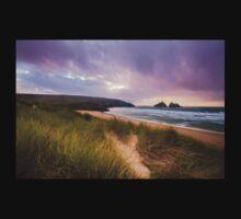 Holywell bay spectacular sunset Kids Tee