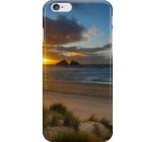 Holywell bay cornwall iPhone Case/Skin