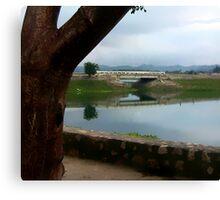 The Little Bridge Into Flores Canvas Print