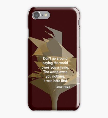 Mark Twain - True to Life iPhone Case/Skin