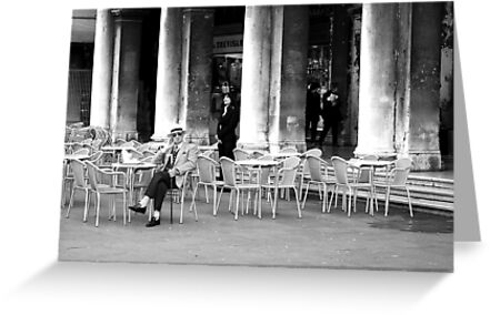 Venice - Café Florian. by Jean-Luc Rollier