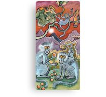 Showing Off!! Vervet Monkeys Canvas Print