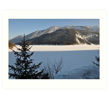 Winter Scene. Sylvenstein. Art Print