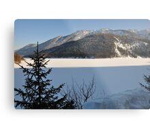 Winter Scene. Sylvenstein. Metal Print