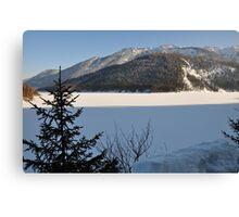 Winter Scene. Sylvenstein. Canvas Print