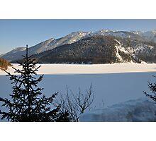 Winter Scene. Sylvenstein. Photographic Print