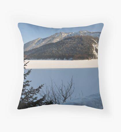 Winter Scene. Sylvenstein. Throw Pillow