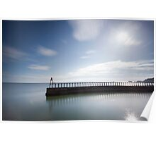 Whitby East Pier Poster