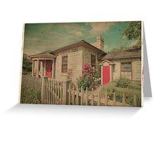 Vintage Cottage Greeting Card