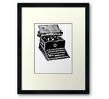 Type! Writer! Framed Print