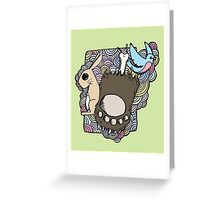 bear paw Greeting Card