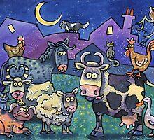 Farmyard family by Dorian Davies