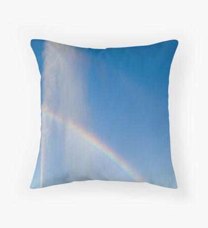 Half A Rainbow Throw Pillow