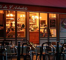 Nighttime at the Café de Arbalète by Virginia Kelser Jones