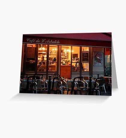 Nighttime at the Café de Arbalète Greeting Card