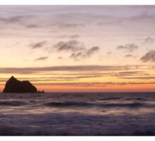 panoramic sunset at holywell bay, newquay UK Sticker