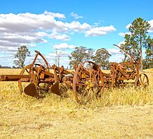 Rusted Old Plough..... by mitpjenkeating