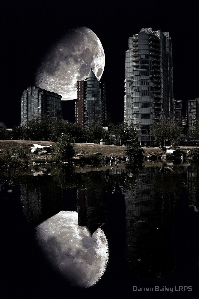 Reflections Of A City Moon by Darren Bailey LRPS