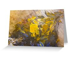 African quartz macro Greeting Card