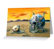 Egg and Skull Painting Greeting Card