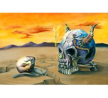 Egg and Skull Painting Photographic Print