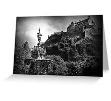 The Ross Fountain & Edinburgh Castle  Greeting Card