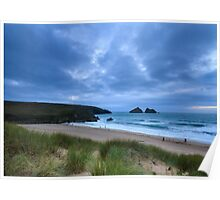 Holywell bay at dusk Poster