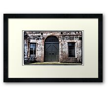Railway Door Framed Print