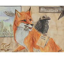 Fox 'n Raven Photographic Print