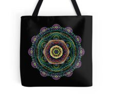 Surreal fractal 3D mandala Tote Bag