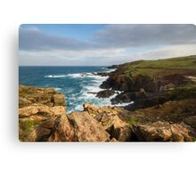 Historical coastline of Cornwall Canvas Print