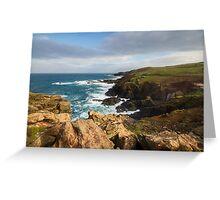 Historical coastline of Cornwall Greeting Card