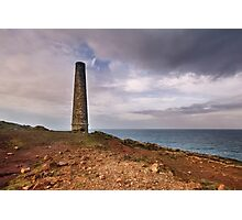 Levant  tin Mine cornwall Photographic Print