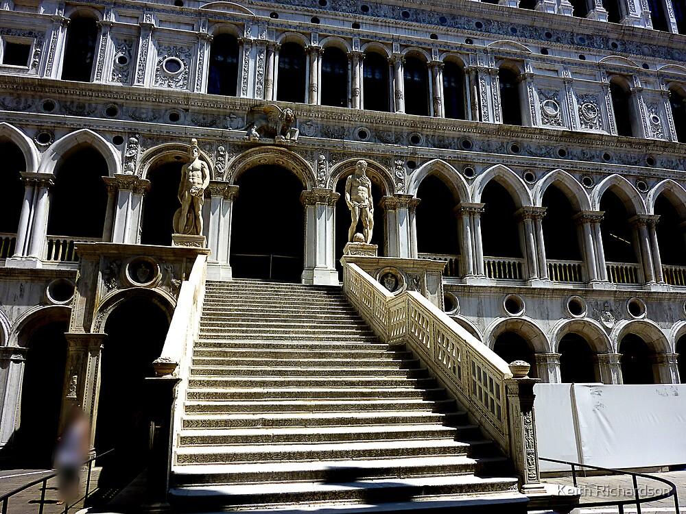 Giants' Staircase in Doge's Palace, Venice by Keith Richardson