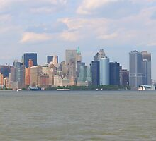 New York City from New Jersey by Josef Pittner