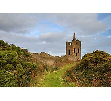Levant tin Mine in cornwall UK Photographic Print