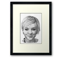 Carey Mulligan Framed Print