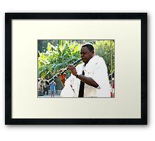 Homage to Satchmo Framed Print