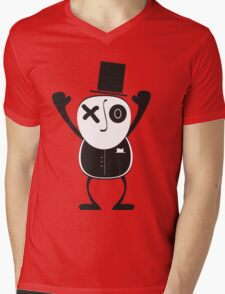 HATMAN Mens V-Neck T-Shirt