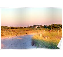 Sun Going Down on Beach Road Poster