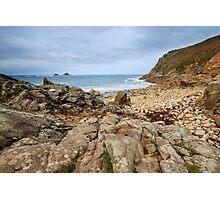 Porth Nanven Cove Cornwall UK Photographic Print