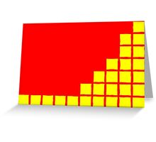 Series:27 episode 1 in red and yellow Greeting Card
