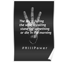 Kendrick Lamar - The sky is falling the wind is calling - HiiiPower Poster
