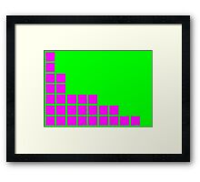 Series:27 episode 2 in green and magenta Framed Print
