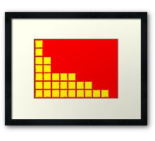 Series:27 episode 2 in red and yellow Framed Print